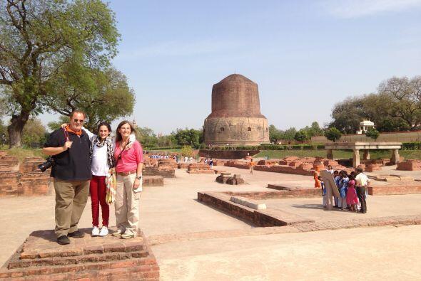Aquí encontraron una stupa, que son monumentos de piedra con forma semie...