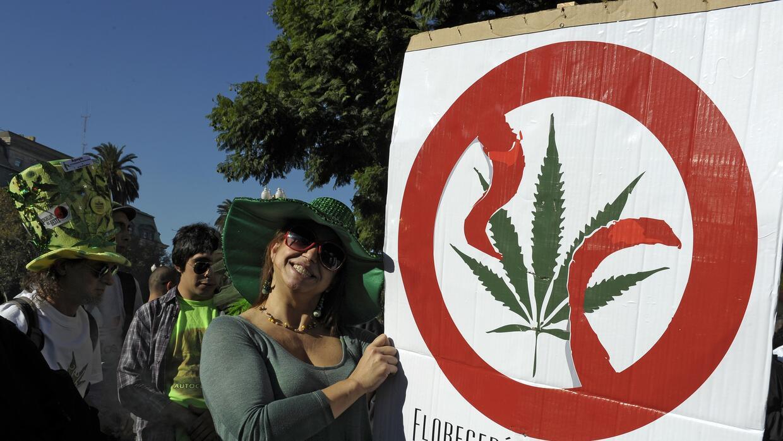 Marcha por la legalización de la marihuana en Buenos Aires.