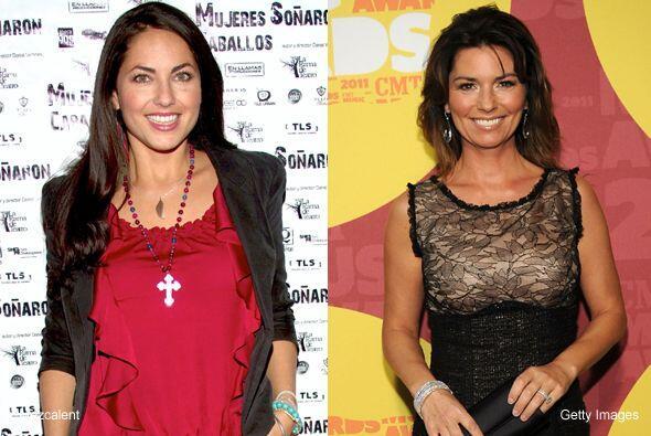Una es actriz y la otra cantante, pero si Bárbara Mori y Shania Twain de...