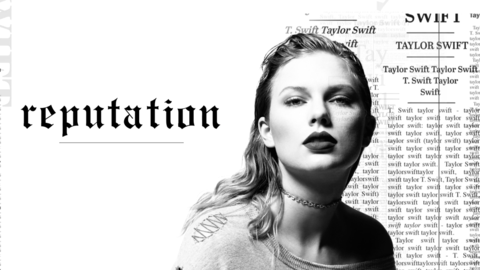 Arte promocional del disco 'Reputation' de Taylor Swift.