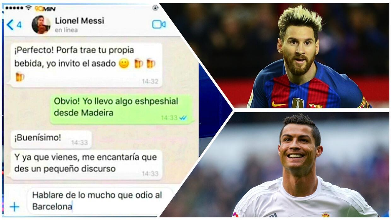 Humor: el chat con todo lo que Messi y Cristiano no se animan a decirse