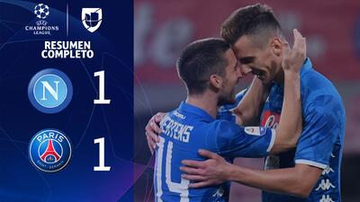 Napoli 1-1 PSG - GOLES Y RESUMEN - Grupo C - UEFA Champions League