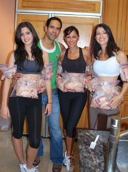 ¡Duro contra la grasa! José 'envolvió' a las chicas con bolsas llenas de...