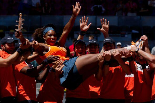 Serena Williams, vencedora en 2012 contra la bielorrusa Victoria Azarenk...