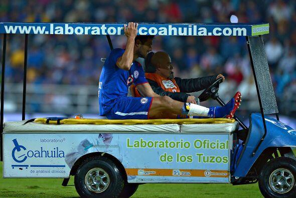 Con Cruz Azul padece una lesión en la fascia del recto anterior del musl...