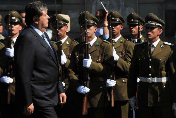 El presidente peruano Alan García visitó Santiago de Chile.