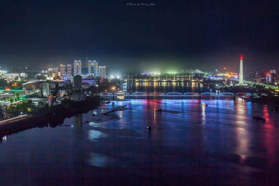 Pyongyang de noche