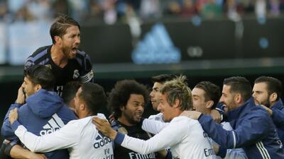 Triunfo de Real Madrid con sabor a título en la Liga de España para recuperar el liderato
