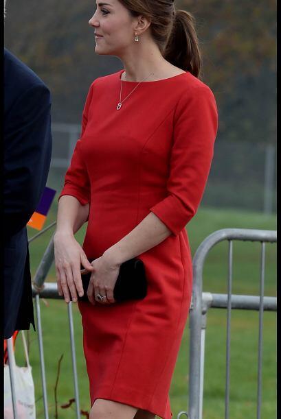 La sonrisa de Kate era muy notoria y la emoción de poder estar ahí no po...