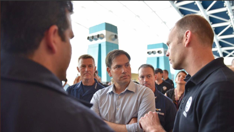 El senador por Florida Marco Rubio, republicano, el lunes durante su vis...