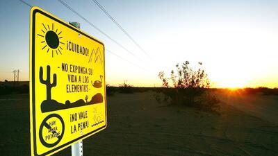Un tramo de la frontera entre México y Estados Unidos.