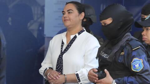 Rosa Elena Bonilla en su llegada a los Tribunales en Materia de Corrupci...