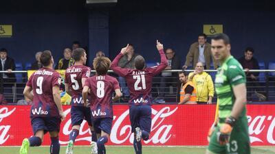 Villarreal de Jonathan dos Santos cayó con Eibar como local en la jornada 29 de La Liga