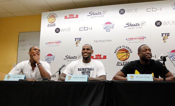 Gracias al 'lockout', el 'Big Three' del Miami Heat: Dwyane Wade, Lebron...
