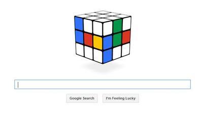 Google hizo un doodle en el que puedes jugar con un cubo Rubik.
