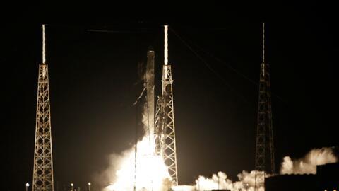 Lanzamiento del cohetes Falcon, desde Cabo Cañaveral