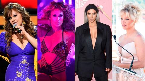 Jenni Rivera, Jennifer Lopez, Kim Kardashian y Pamela Anderson, entre la...