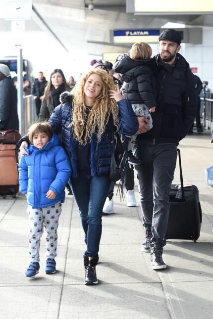Shakira y su hijo Milán