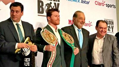 Le entregan cinturón de Campeón al 'Canelo' y anuncia nueva etapa tras vencer a Golovkin