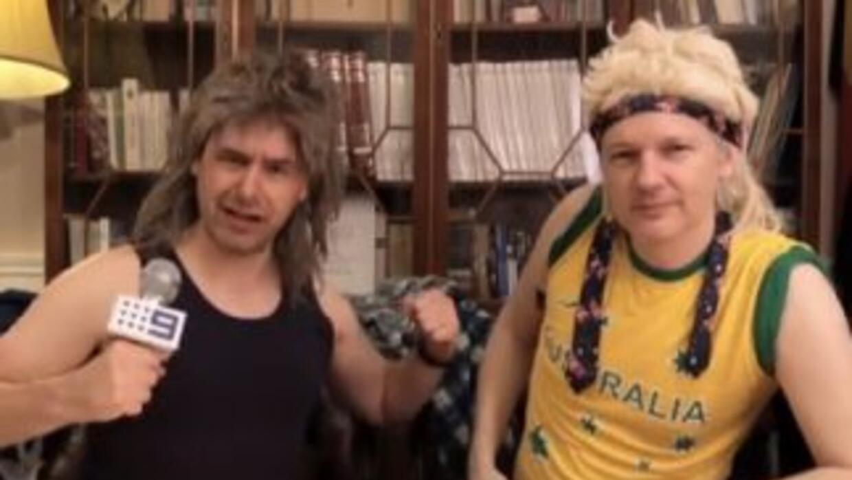 Captura del video de Julian Assange.