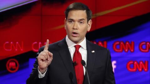 Marco Rubio durante uno de los debates republicanos.