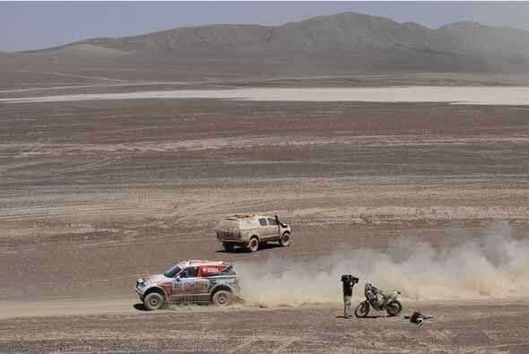 En esta etapa los pilotos cruzaron de Argentina a Chile por el Paso de J...