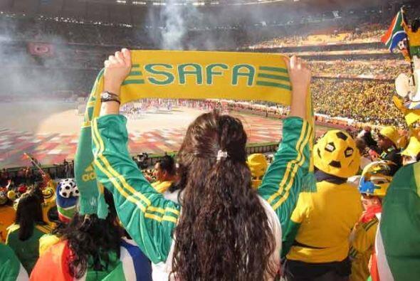 El día de la ceremonia de inauguración en el Soccer City de Johannesburgo.