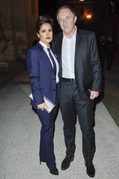 Salma Hayek y su marido hasta se pusieron de acuerdo para ir súper combi...
