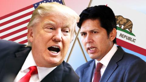 El cruce dialéctico entre el presidente Donald Trump y los legisl...