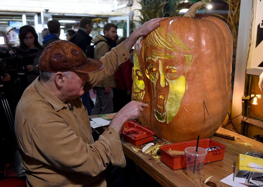 Los candidatos presidenciales hasta en las calabazas de Halloween calaba...