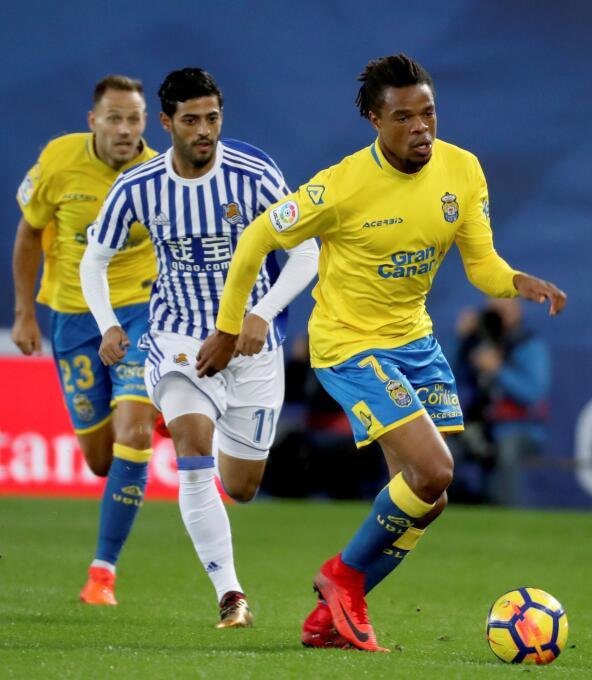 Real Sociedad [2]-2 Las Palmas: aunque no fue titular, Carlos Vela entró...