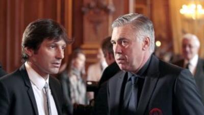 Leonardo mostró su deseo porque 'Carleto' siga al mando del PSG, pero no...