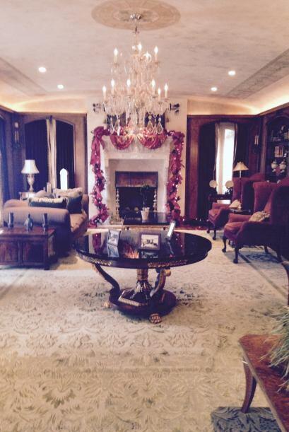 La arquitectura interior de la casa fue el refugio de la viuda Wrigley q...
