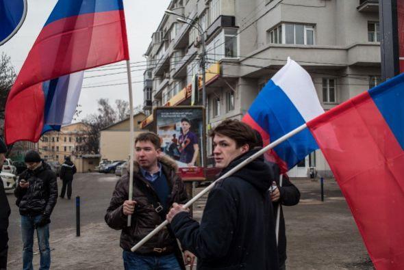La causa es que Rusia tiene una base naval en Crimea que se considera ge...