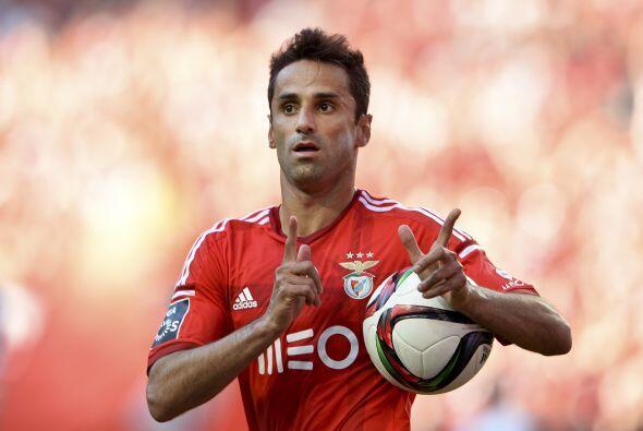 Jonas, futbolista del Bénfica, fue el segundo lugar de la tabla de golea...
