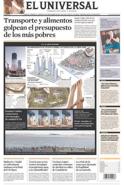 Cortesía de El Universal de Caracas, Venezuela, vía Newseum.