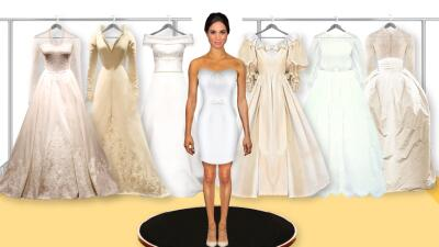 Interactive: This is how Meghan looks with the bridal gowns of Kate, Letizia and other royal highnesses