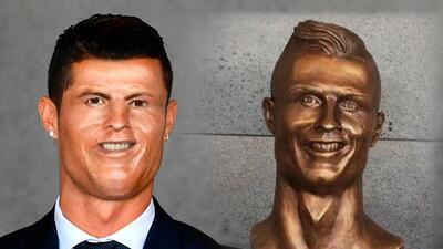Los memes se burlan de Cristiano Ronaldo y su deforme escultura