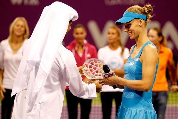 El torneo en Doha le dió un reconocimiento por su trayectoria.