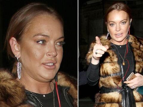 ¿Qué le pasó a Lindsay Lohan en el rostro?