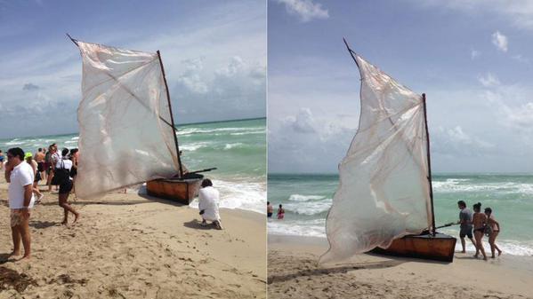 Grupo de balseros cubanos llegaron hasta Miami Beach
