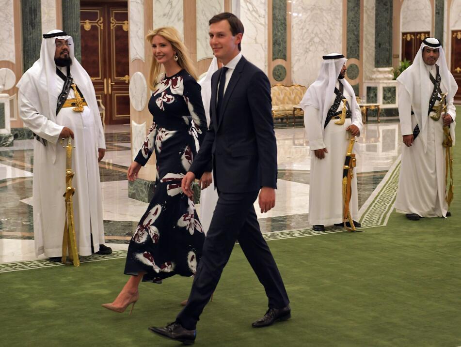 Ivanka Trump, que viajó a Riad como parte del equipo de consejero...