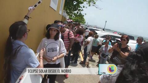Ya hay gente congregada en el Morro para ver el eclipse