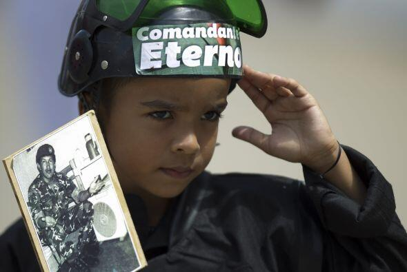 Todos recuerdan hoy a Hugo Chávez. La edad no importa.
