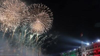 Grito de la Independencia desde el Zócalo capitalino.