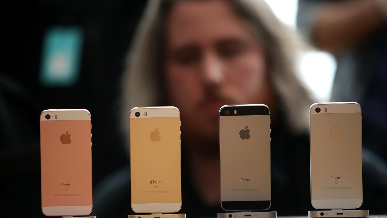 iPhones en la sede de Apple en Cupertino, California.