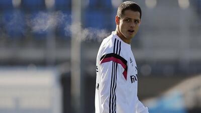 El delantero mexicano no participó en el entrenamiento del Real Madrid.
