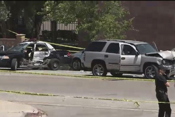 En el colapso se originó cuando el  vehículo perseguido un Ford Camaro r...