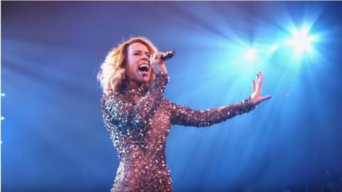 Dutch singer Glennis Grace performs a moving rendition of Whitney Housto...