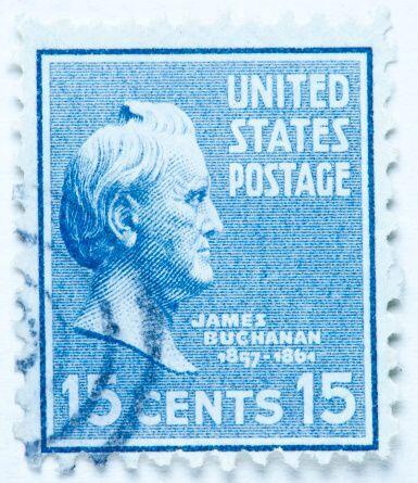 #15 - James Buchanan. Mandato 4 de marzo de 1857, hasta 4 de marzo de 1861.